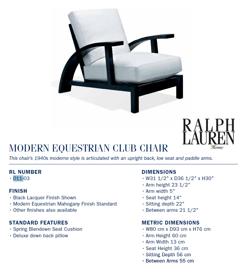 011-03 modern equestrian club chair