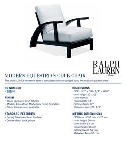 011-03 modern equestrian club chair