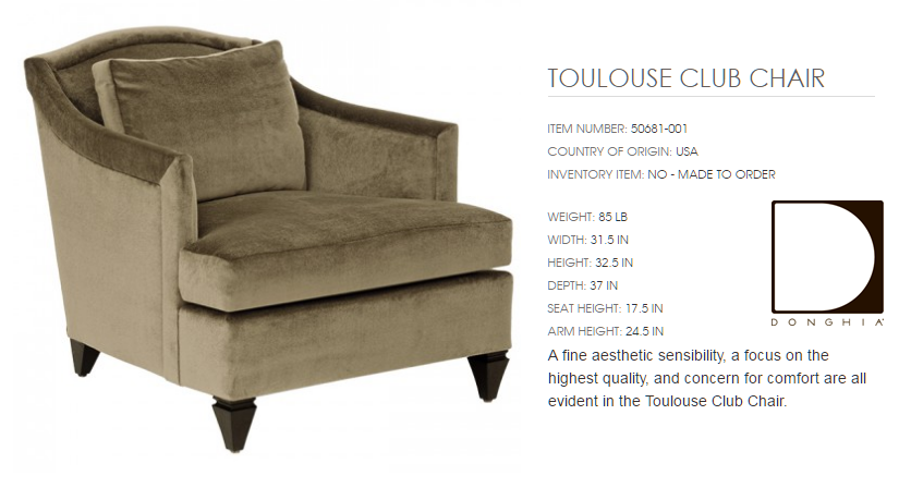 50681-001 TOULOUSE CLUB CHAIR