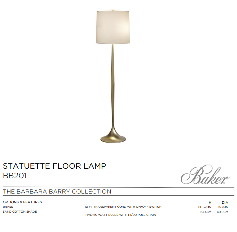 BB201 STATUTUETE FLOOR LAMP