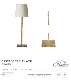 BSA CASCADE TABLE LAMP
