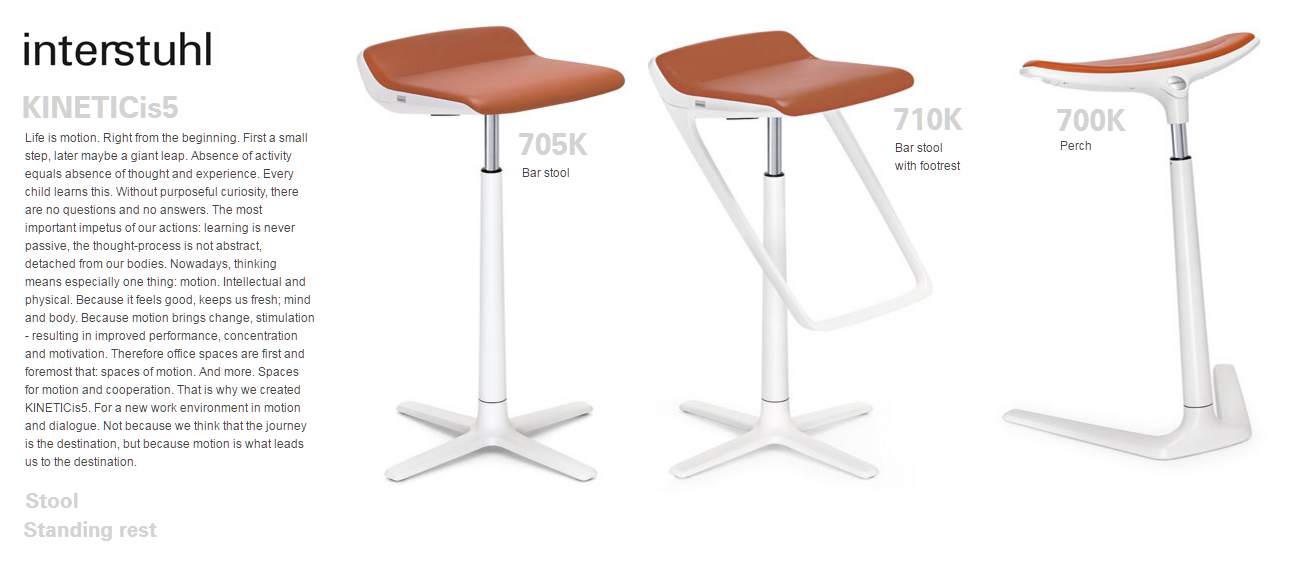 KINETICis5 STOOL & STANDING REST