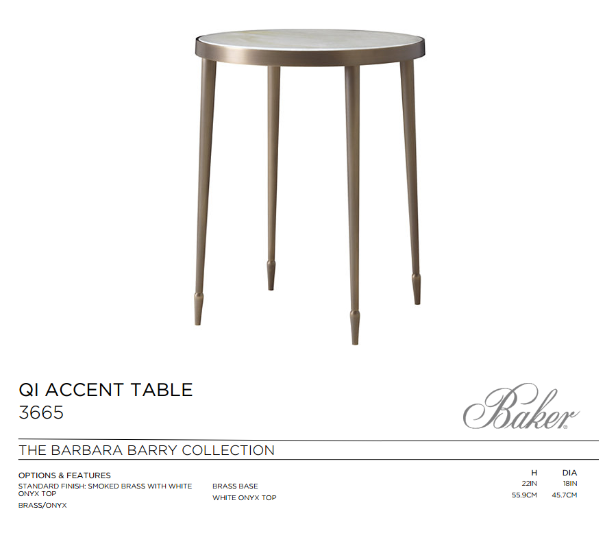 3665 QI ACCENT TABLE