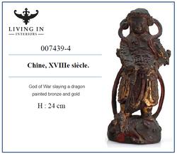 007439-4 Dieu de la guerre terrassant un dragon 18C
