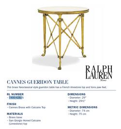 7400-42B Cannes GUERIDON TABLE