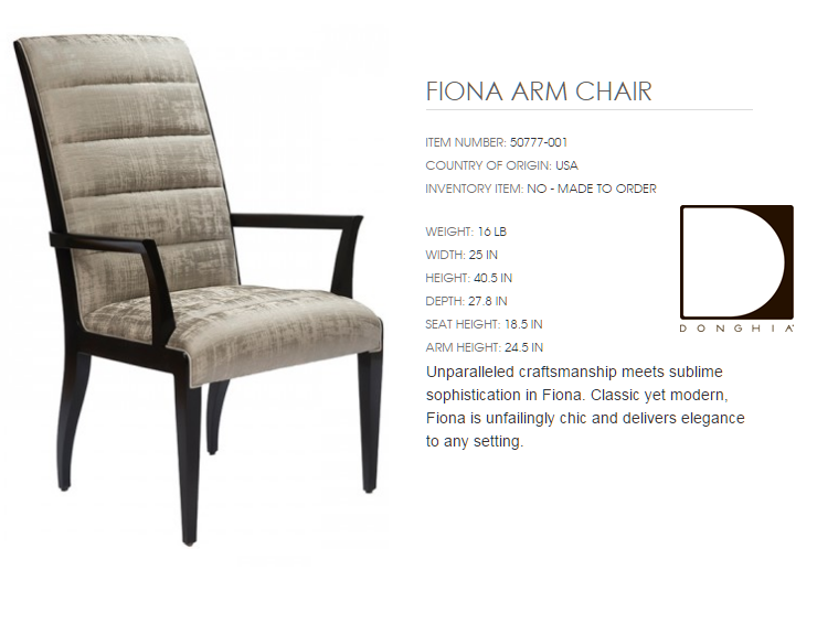 50777-001 FIONA ARM CHAIR