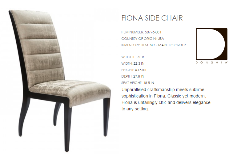 50776-001 FIONA SIDE CHAIR