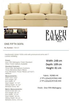 768-01 ONE FIFTH SOFA Fabric R2983-44
