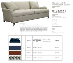 4122-35 Silhouettes M2M Wide Square Arm Sofa