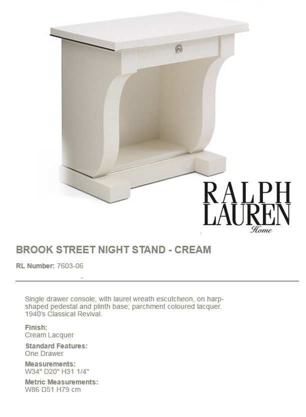 7603-06 BROOK STREET NIGHT STAND - CREAM