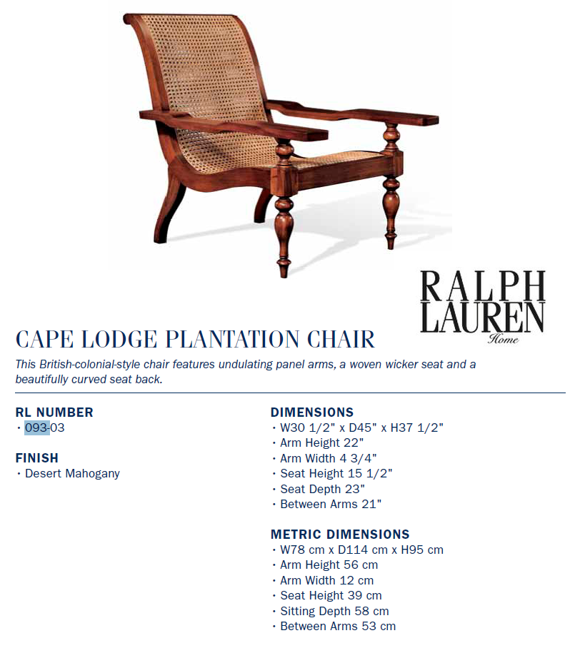 093-03 cape lodge plantation chair