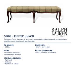 077-04 Noble Estate Bench