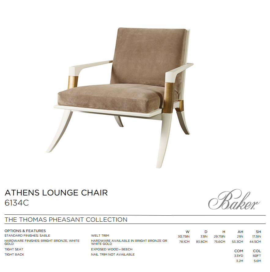 6134C ATHENS LOUNGE CHAIR