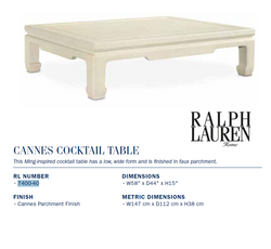 7400-40 CANNES COCKTAIL TABLE