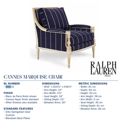 043-03 CANNES MARQUISE CHAIR