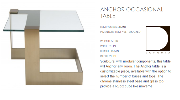 68250 ANCHOR OCCASIONAL TABLE