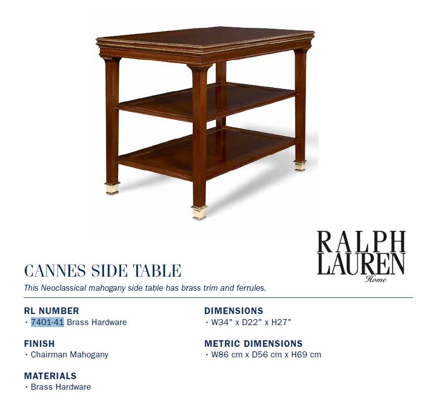 7401-41 CANNES SIDE TABLE