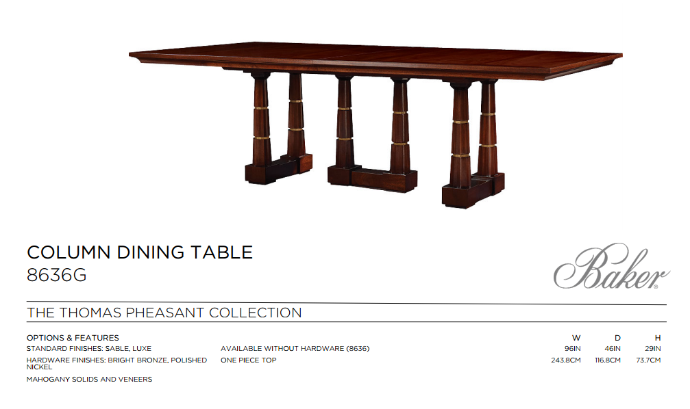 8636G COLUMN DINING TABLE