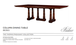 8636G COLUMN DINING TABLE