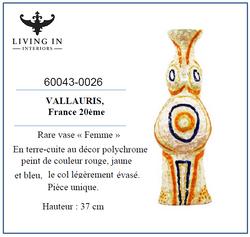 60043-0026 Vallauris - Rare vase