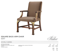5347 SQUARE BACK ARM CHAIR