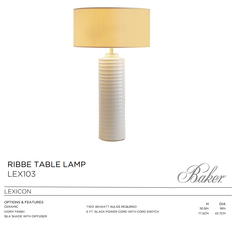 LEX103 RIBBE TABLE LAMP