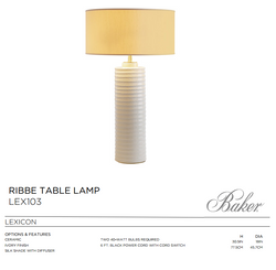 LEX103 RIBBE TABLE LAMP