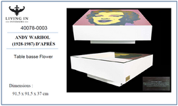 40078-0003 AWARHOL TABLE BASSE FLOWER