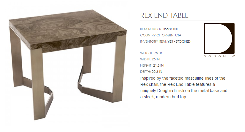 06688-001 REX END TABLE