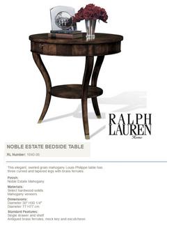 1840-06 NOBLE ESTATE BEDSIDE TABLE