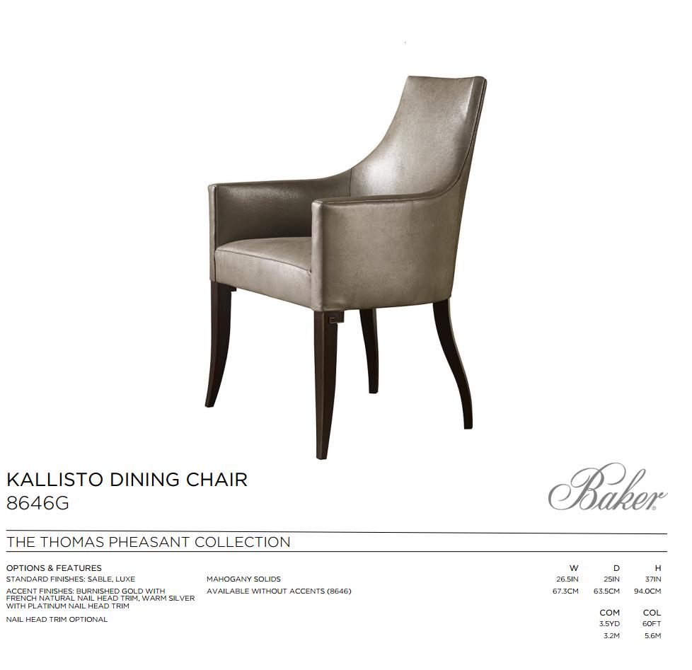 8646G KALLISTO DINING CHAIR
