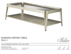 3654-1 SHADOW COFFEE TABLE