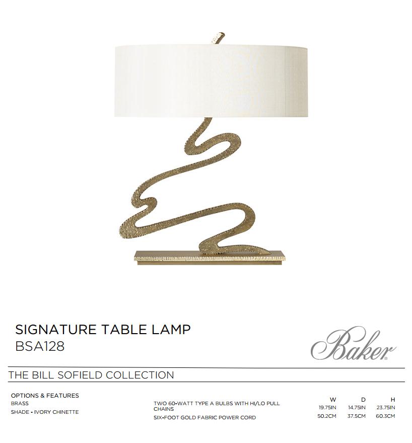 SA128 SIGNATURE TABLE LAMP