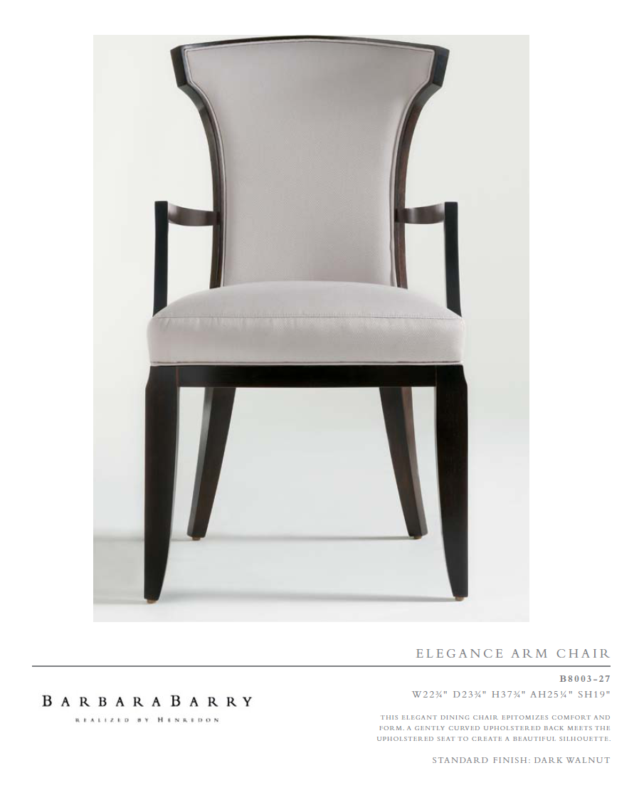 B8003-27 eleganCe arM Chair