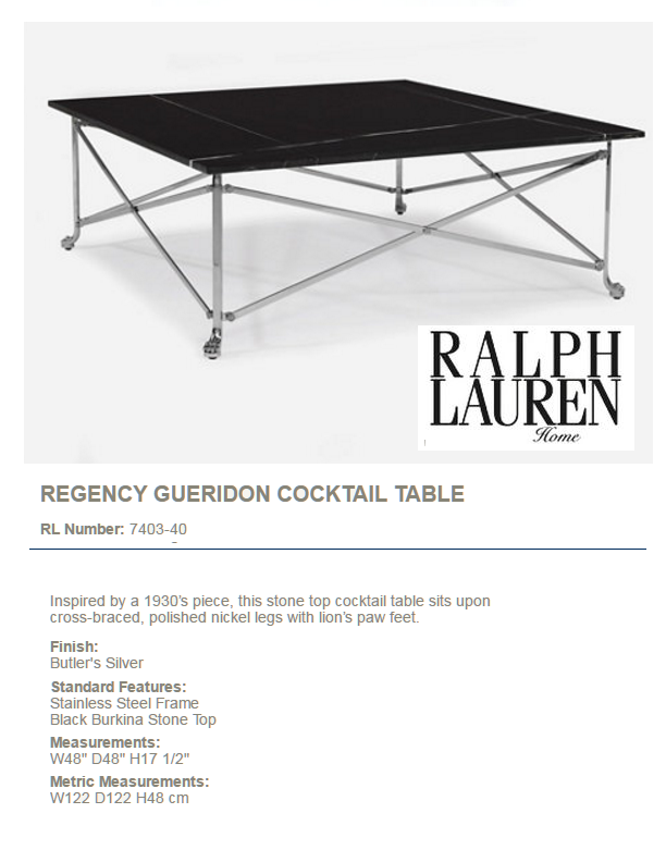 7403-40 REGENCY GUERIDON COCKTAIL TABLE