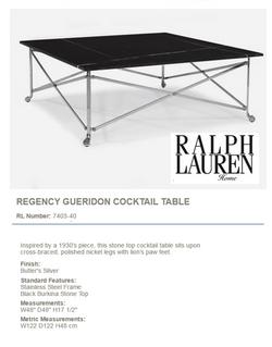 7403-40 REGENCY GUERIDON COCKTAIL TABLE