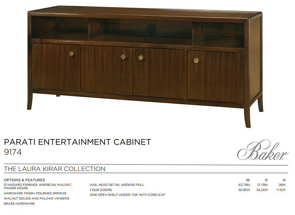 9174 PARATI ENTERTAINMENT CABINET