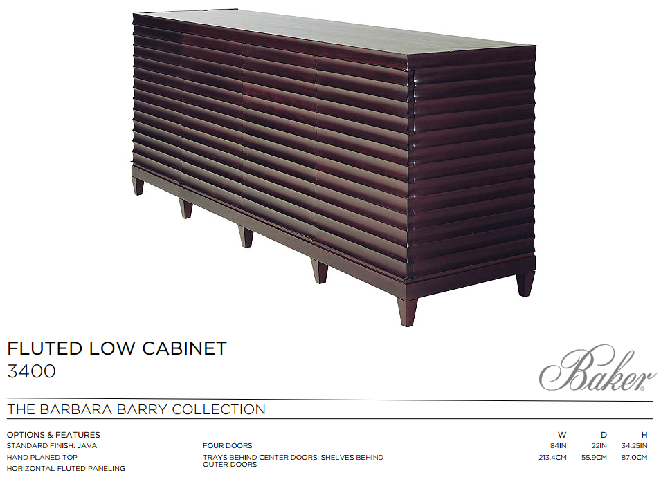 3400 FLUTED LOW CABINET