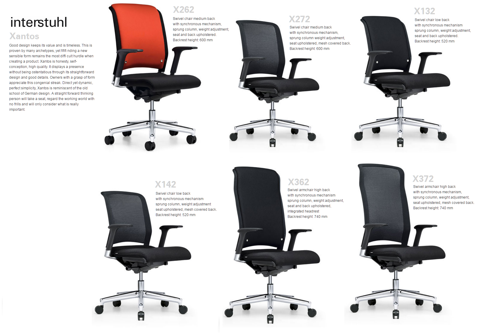 XANTOS SWEVEL CHAIRS