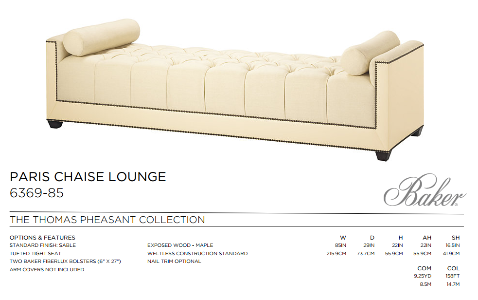 6369-85 PARIS CHAISE LOUNGE