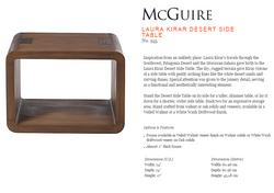 955 LAURA KIRAR DESERT SIDE TABLE