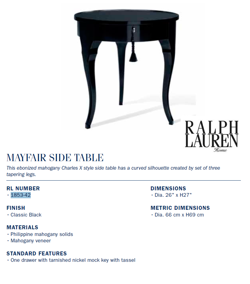 1853-42 mayfair side table
