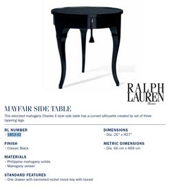 1853-42 mayfair side table