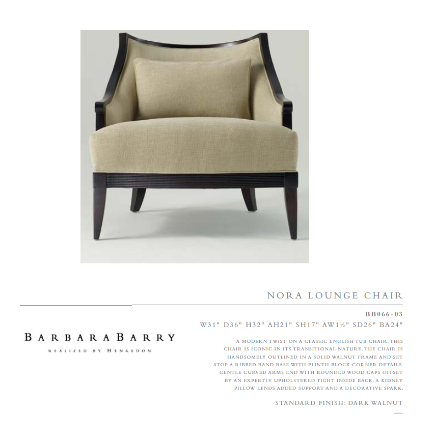 BB066-03 nora loUnge Chair