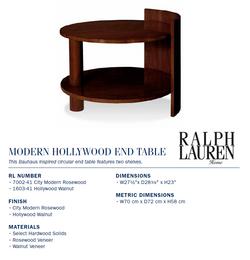 7002-41 Modern hollywood End