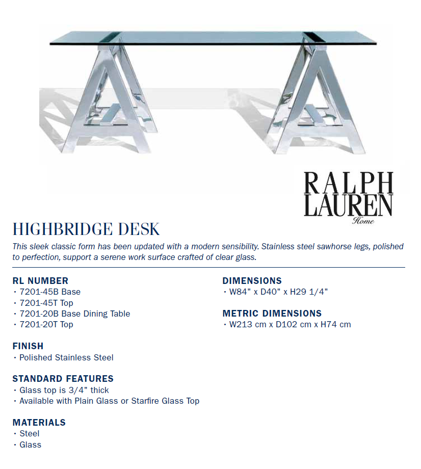 7201-20B highbridge desk