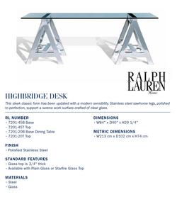 7201-20B highbridge desk