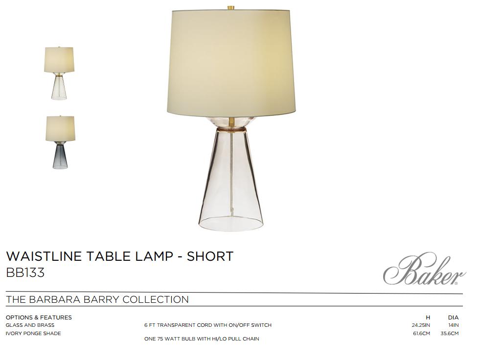 BB133 WAISTELINE TABLE LAMP - SHORT