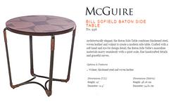 936 BILL SOFIELD BATON SIDE TABLE
