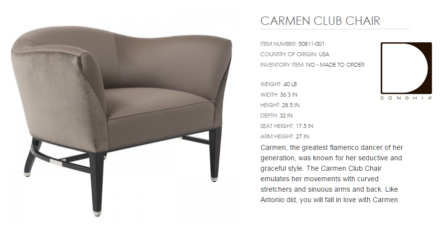 50811-001 CARMEN CLUB CHAIR